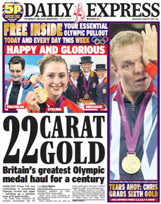 Team GB success confuses The Express